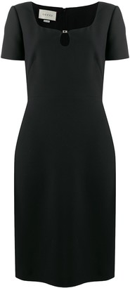 Gucci Sweetheart Neck Black Dress