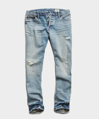 Todd Snyder Slim Fit Japanese Selvedge Jean in New Distressed Wash