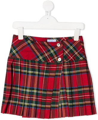 Siola Pleated Tartan Check Skirt