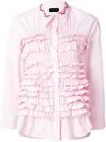 Simone Rocha ruffled embroidered collar shirt