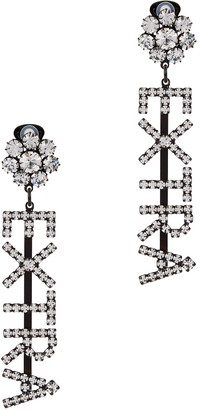 Ashley Williams Extra Crystal-embellished Clip-on Earrings