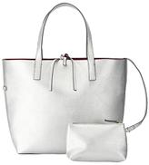 John Lewis Tia Reversible Grab Bag, Silver / Plum