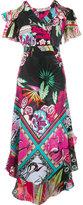 Etro floral cold shoulder dress