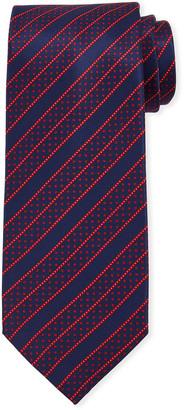 Stefano Ricci Men's Dashed Line-Print Silk Tie