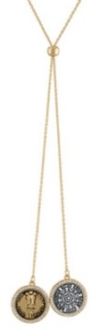 "Rachel Roy Two-Tone Coin Drop 30"" Lariat Necklace"