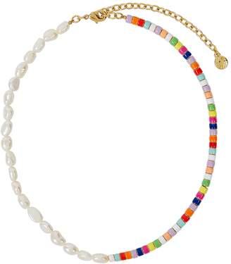 BaubleBar Ellie Multicoloured Pearl Necklace
