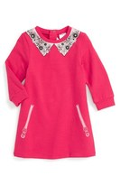 Little Marc Jacobs Toddler Girl's 'Essential' Graphic Jersey Sweatshirt Dress