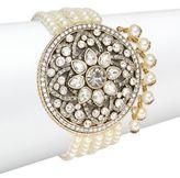 Heidi Daus Center Of Attention Swarovski Crystal Bracelet/Goldtone