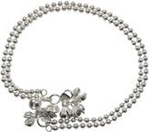Ghoomar Women Silver Plated Anklet Foot Chain Jewelry With Beads Disc Gift For Her