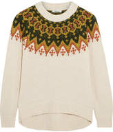 Madewell Fair Isle Cotton-blend Sweater - Cream