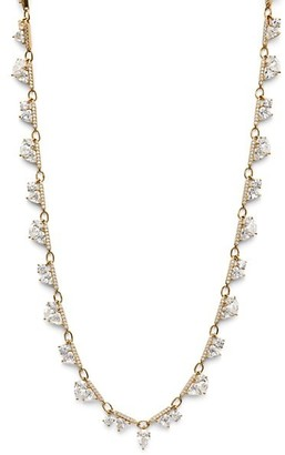 Adriana Orsini Dia 18K Yellow Goldplated Sterling Silver & Cubic Zirconia Shaky Necklace