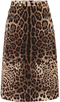 Dolce & Gabbana Animal Printed A-Line Skirt