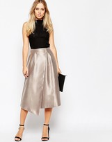 Asos Midi Skirt with Asymmetric Wrap