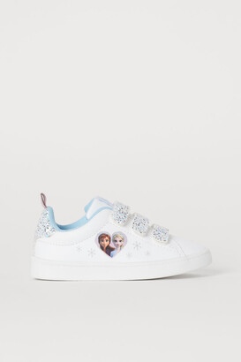 H&M Glittery printed trainers
