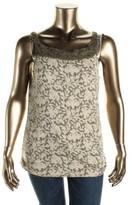 Lauren Ralph Lauren LRL Womens Printed Sleeveless Casual Top