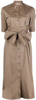 Antonelli Tied-Waist Shirt Dress