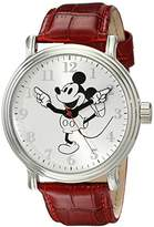 Disney Men's W001864 Mickey Mouse Analog Display Analog Quartz Red Watch
