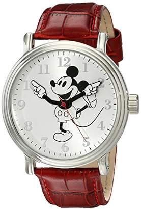 Disney Men's W001864 Mickey Mouse Analog Display Analog Quartz Red Watch