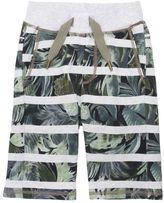 Molo Adam Jungle Striped Cotton Shorts