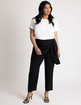 ELOQUII Wrap Front Pant with Tie