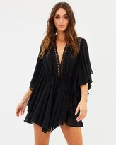 Shona Joy Eclipse Frill Sleeve Drawstring Mini Dress
