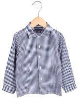 Oscar de la Renta Boys' Gingham Patterned Button-Up Shirt