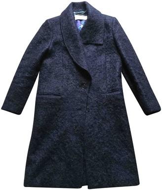 Paul Smith Navy Wool Coat for Women