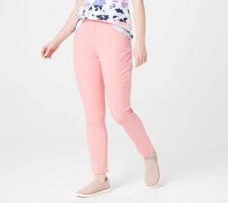 Denim & Co. Stretch Twill Slim Straight-Leg Ankle Pants
