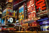Times Square Theater District Poster 36 x 24in