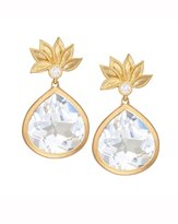 Jamie Wolf Lotus Flower White Topaz & Diamond Earrings