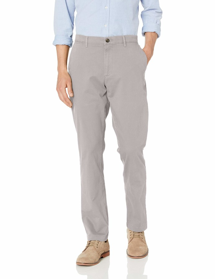 Thumbnail for your product : Amazon Essentials Athletic-Fit Broken-in Chino Pant Black 33W x 29L