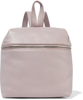 Kara Small Textured-leather Backpack - Lilac