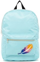 T-Shirt & Jeans Feather Patch Backpack