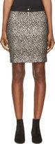 Roseanna Black & Silver Brocade Skirt