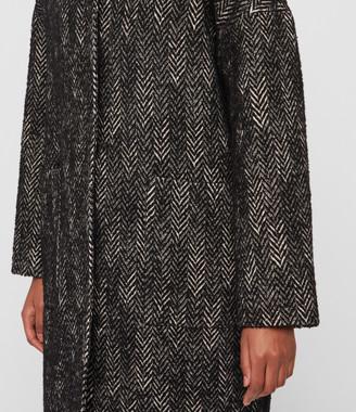 AllSaints Teya Herringbone Coat