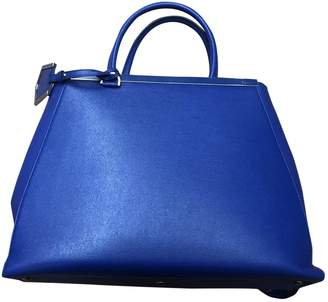 Fendi Peekaboo Blue Leather Handbags