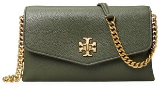Tory Burch Kira Leather Wallet-On-Chain