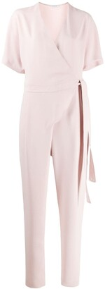 P.A.R.O.S.H. Tapered Tie-Waist Jumpsuit
