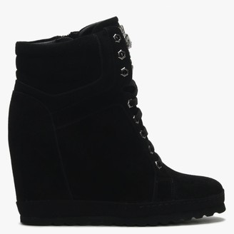 Daniel Vasto Black Suede Sporty Wedge Ankle Boots