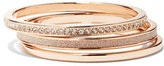 New York & Co. Three-Piece Rose Goldtone Bangle Set