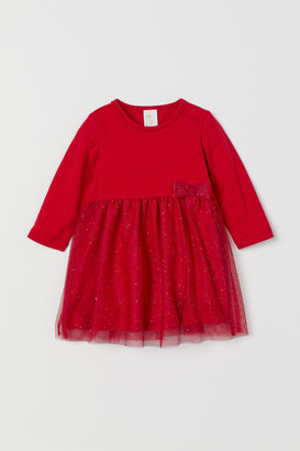 H&M Dress with Tulle Skirt - Red