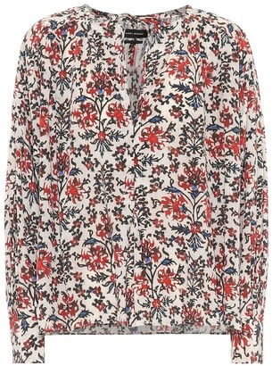 Isabel Marant Amba floral stretch-silk blouse