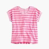J.Crew Girls' swingy wide-striped T-shirt