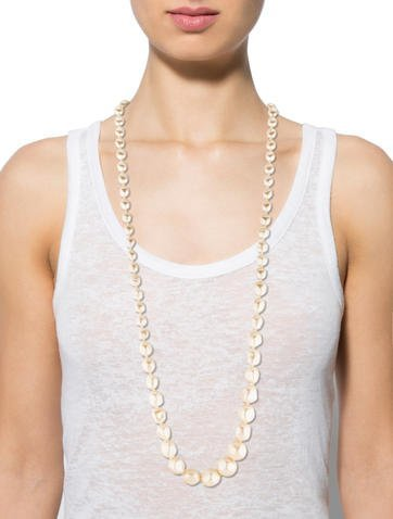 Saint Laurent Pearl Strand Necklace