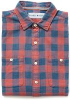 Buffalo David Bitton The Normal Brand Plaid Button Down Shirt Red Multi S