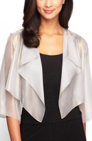 Alex Evenings Women's Ruffle Drape Jacket