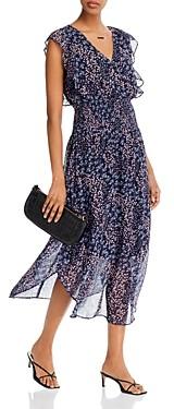 Aqua Floral Print Ruffled Dress - 100% Exclusive