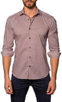 Jared Lang Circle Print Long Sleeve Trim Fit Shirt