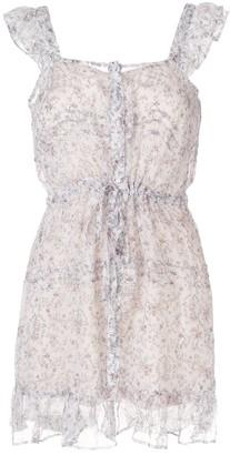 Tilda ruffle silk mini dress
