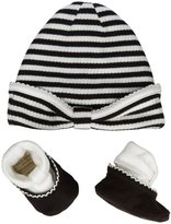 Kate Spade Cap & Bootie Set (Baby) - Black/ White-One Size